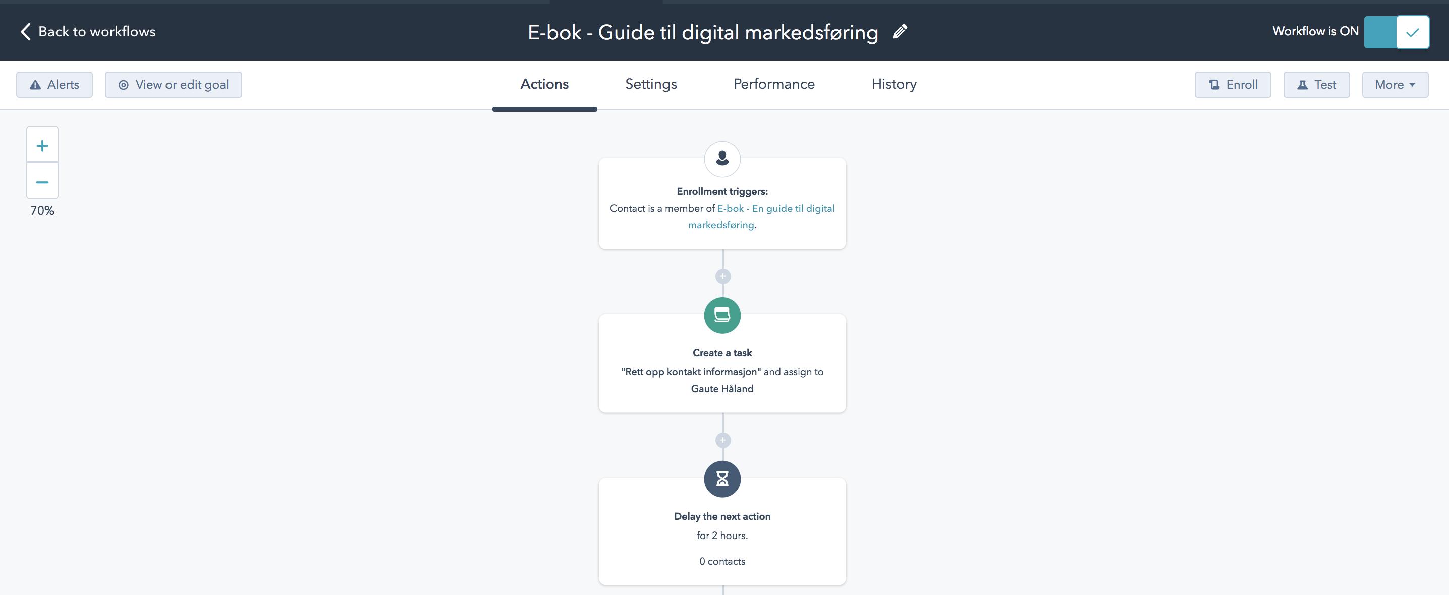 Markedsføringsautomasjon med Workflow