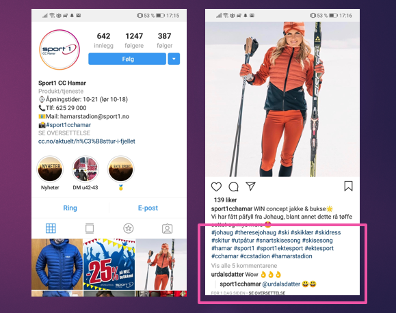 få flere kunder med instagram og hashtags