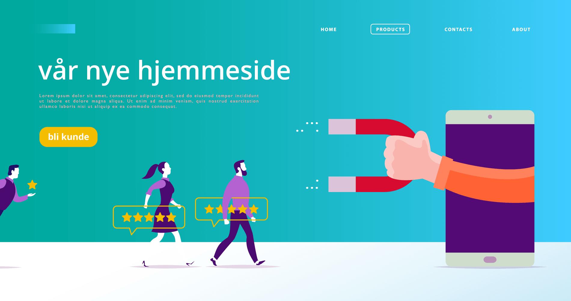 Ny hjemmeside illustrasjon